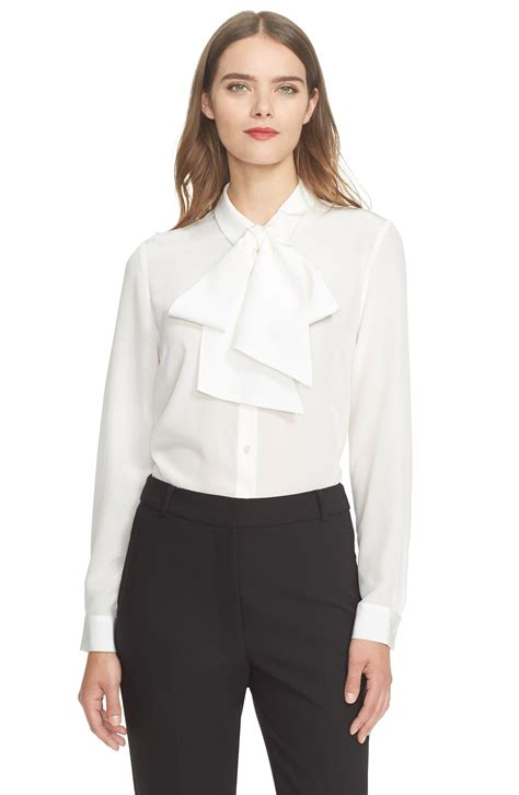 Mic Mc New York Shoes Blouse kate spade new york bow detail silk blouse nordstrom
