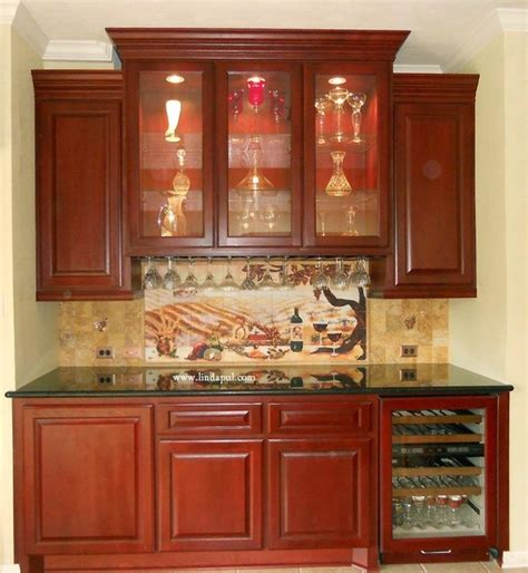Dining Room Pantry Cabinets Custom Wine Cabinet Butlers Pantry With Backsplash