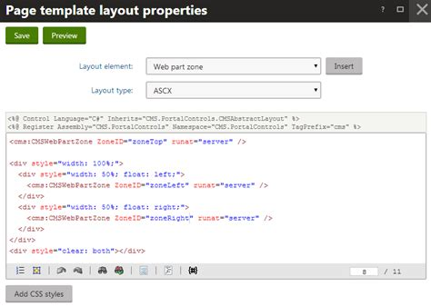 kentico layout web part developing websites using the portal engine kentico 8