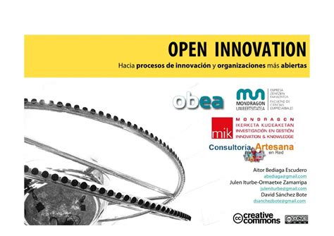 Mba For Inovation by Open Innovation Mba Mondragon Unibertsitatea 2009