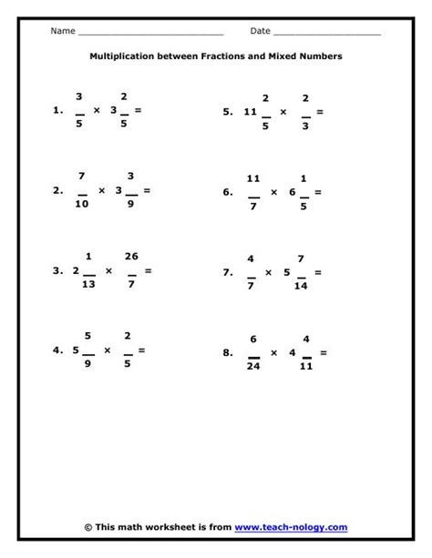 Sixth Grade Worksheets by Math Products And Met On