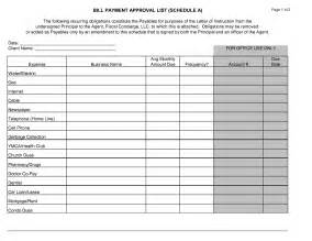 Pay Schedule Template by Best Photos Of Bill Pay Template Bill Payment Schedule