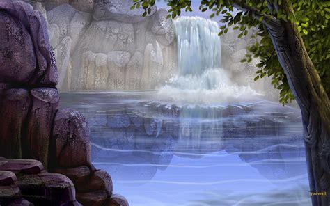 Wallpaper 3d Waterfall | waterfall backgrounds wallpaper cave