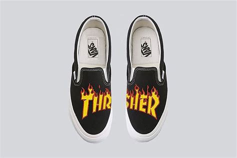 Vans X Thraser Preview Thrasher X Vans Collection Le Site De La Sneaker