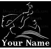 Reining Sliding Stop Horse Decal Sticker Personalized YOU