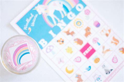 printable unicorn bingo unicorn 5th birthday party kids party time
