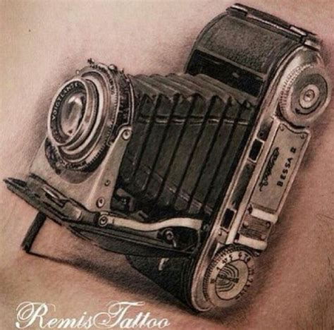 realism vintage camera tattoo tattoos pinterest