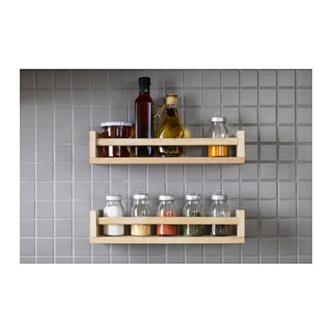 ikea spice rack and mini jars for inside of pantry closet ikea bekvam wooden spice jar rack holder storage wall