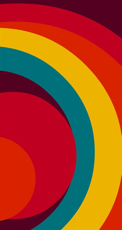 Rainbow style minimalist pattern wallpaper. Tap to see