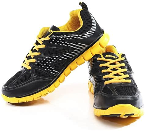 black and yellow running shoes sparx sx0178g running shoes buy black yellow color sparx