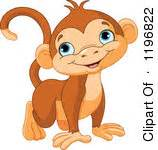 Happy Monkey Blue free monkey clipart illustration