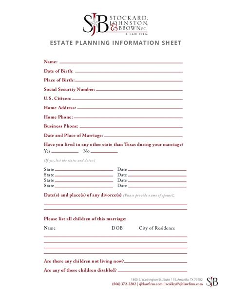 printable estate planner estate planning worksheet worksheets