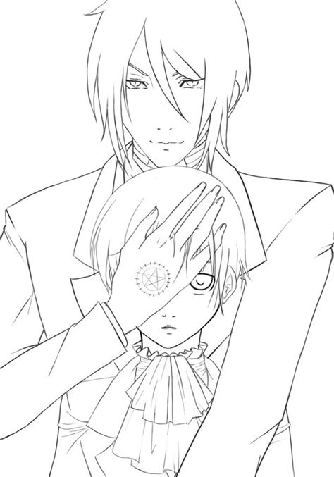 black butler sebastian coloring pages coloring pages