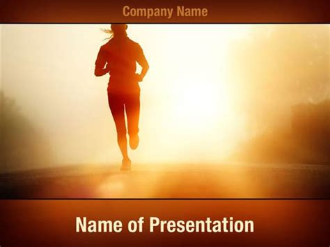 morning run powerpoint templates morning run powerpoint
