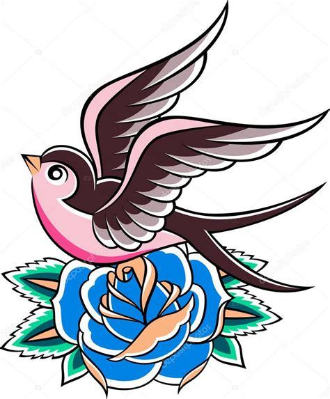 new school zwaluw tattoo hirondelle tatouage vintage image vectorielle 10093558