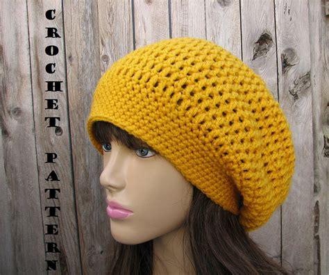 pattern for simple crochet hat crochet pattern slouchy hat crochet pattern pdfeasy great