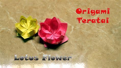 membuat origami bunga lotus tutorial origami bunga teratai origami lotus flower diy