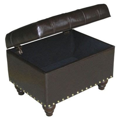 target threshold tufted bench tufted storage ottoman with nailheads espresso threshold