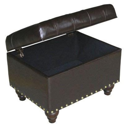 threshold x bench ottoman tufted storage ottoman with nailheads espresso threshold