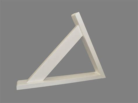 Synthetic Corbels Pair Of Angled Porch Gallows Brackets Synthetic Wood Trade