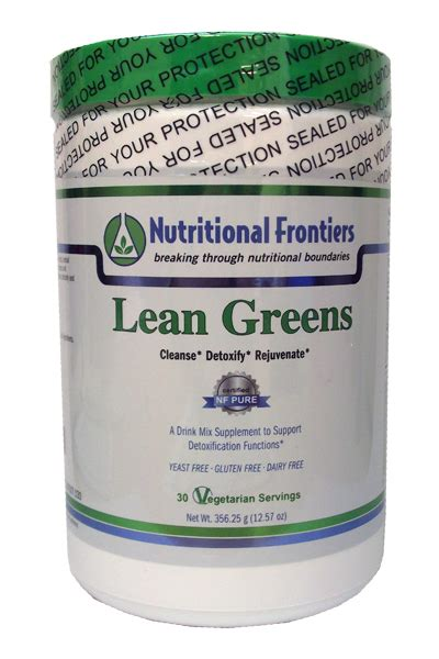 Nutritional Frontiers Detox by Pro Lean Greens By Nutritional Frontiers 356 25 G 12 57