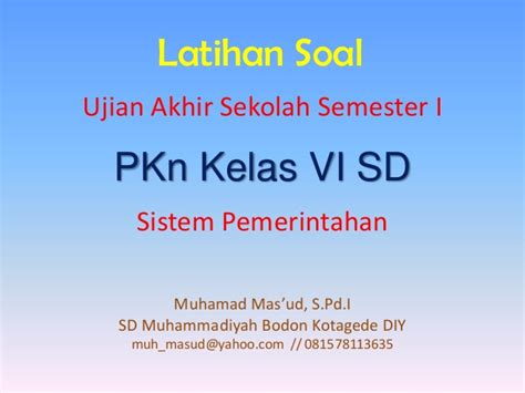 Pkn Sd Kelas 6 sistem pemerintahan pkn 6 sd