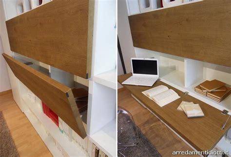 libreria con scrivania a scomparsa libreria modo con piccolo guardaroba diotti a f arredamenti