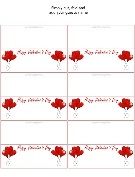 printable birthday place cards free printable valentine s day place cards holiday party