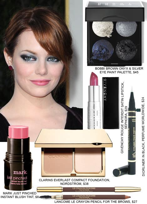 emma stone eye makeup golden globes best hair makeup beauty