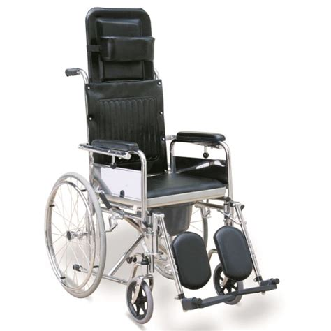 reclining commode wheelchair with detachable elevating
