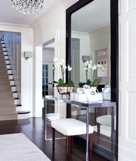 Large Entryway Mirrors entryway large mirror footstool interiors entrance halls pi