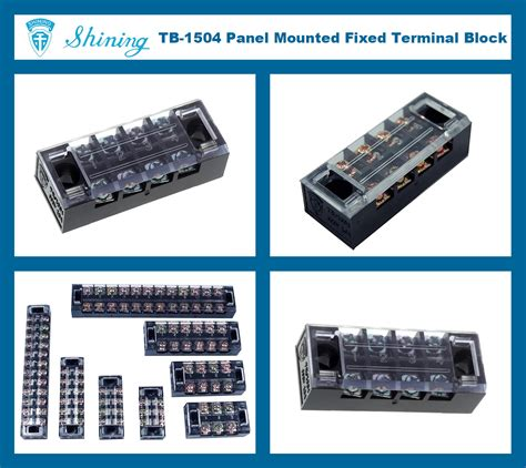 Terminal Block Tb 2504 4 Pole 25a 400v Taiwan Tb 1504 Electrical Fixed Type 15a 4 Pole Barrier