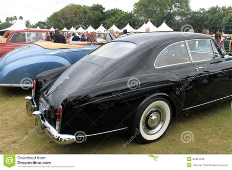 old bentley classic bentley continental rear quarter editorial stock