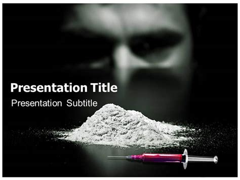 drugs addiction powerpoint templates and backgrounds