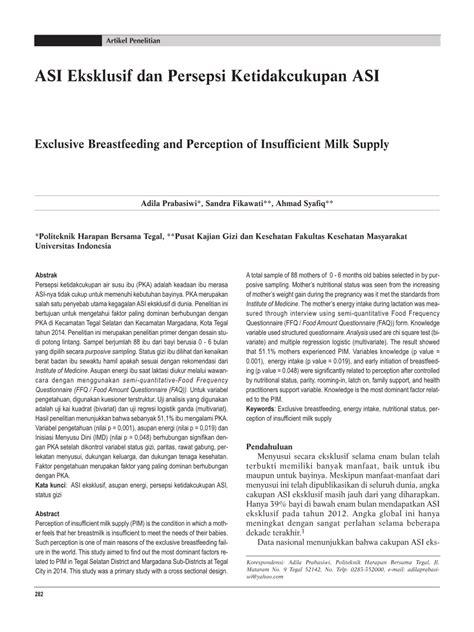desain penelitian persepsi artikel penelitian 282 asi eksklusif dan pdf download