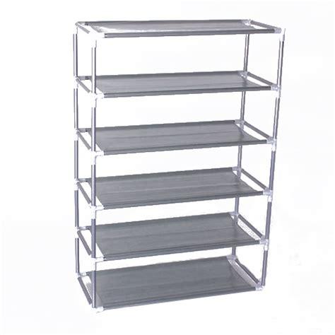 6 Shelf Storage Cabinet by 6 Layers Removable Door Shoe Storage Cabinet Shelf Diy