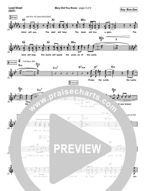 Mary Did You Know Sheet Music (Travis Cottrell) - PraiseCharts