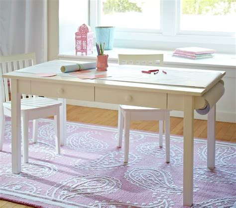 kids art desk for two carolina grow with you craft pottery barn kids