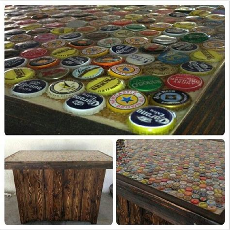 homemade bar tops home made bar with bottle cap bar top future home ideas