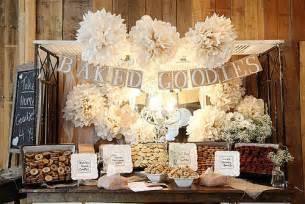 Diy reception ideas baked good buffet