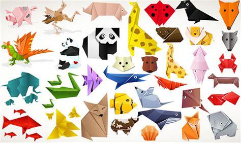Origami Zoo Animals - animales vectorizados con estilo origami pixel
