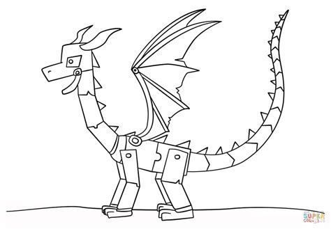 coloring pages of ender dragon minecraft ender dragon coloring page free printable