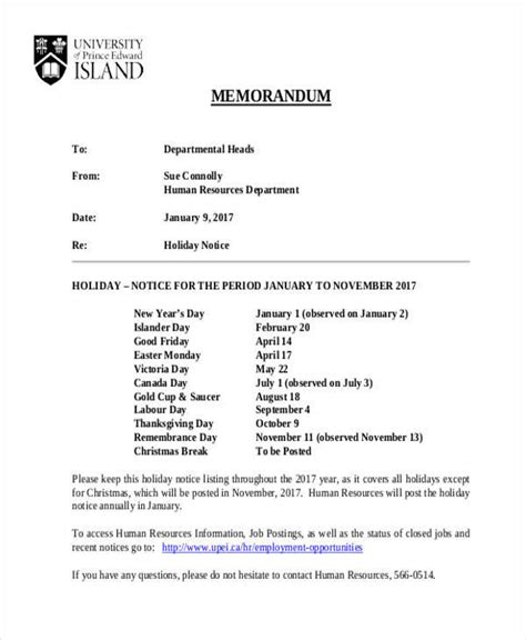 layout for notice 9 notice memo free sle exle format download