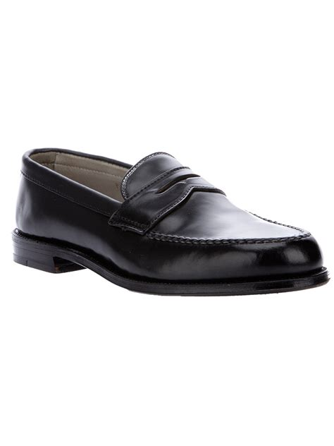 alden loafers sale alden loafer in black for lyst