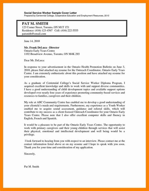 Sle Cover Letter Underqualified sle cover letter for social worker 28 images cover