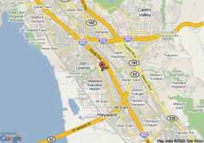 where is hayward california on the map map of mainstay suites hayward hayward