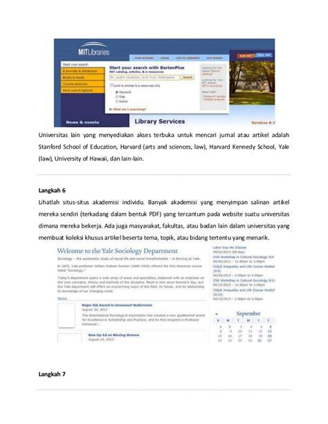 langkah membuat resume jurnal langkah langkah mencari jurnal online
