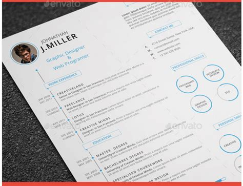 Great Looking Creative Resumes by Best Free Resume Templates In Psd And Ai In 2018 Colorlib