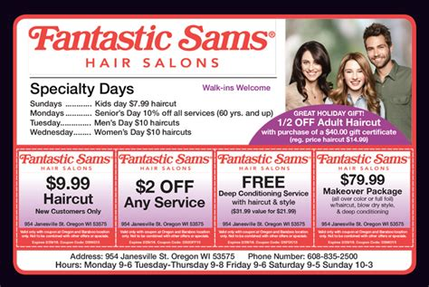 fantastic sams coupon