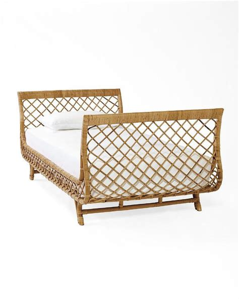 rattan daybed brown sleigh inspired rattan day bed